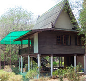 Our bungalow 'Ban Buri' at the Kwai Horse Camp