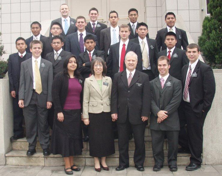 Elder Morton arrives at his mission home in Lima Peru!