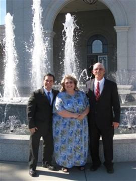 Elder Morton with his parents