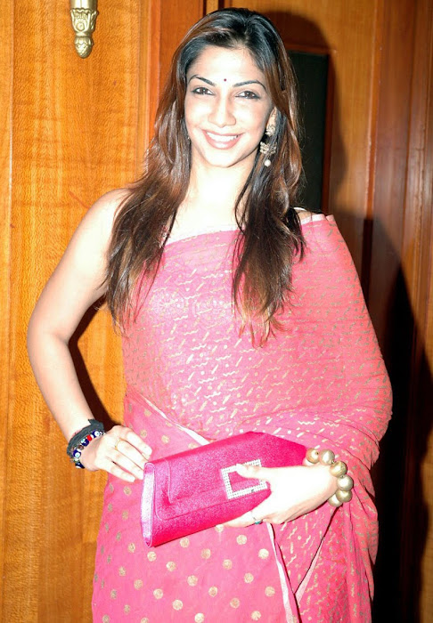 bavana looking beautiful in pink sareespotted at a private event
