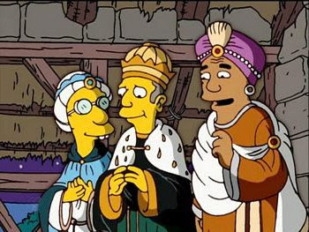 Reyes magos simpsons