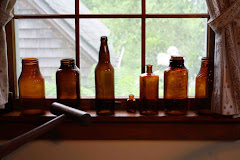 Old Amber Bottles and Jars