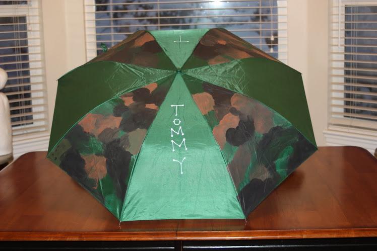 green camo umbrella