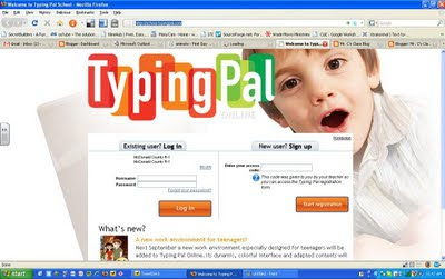 Online typing class