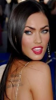 megan fox tattoos say