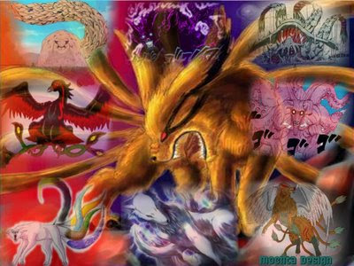 Nine Tailed Beast Bijuu The Beasts Are Giant Demons That Serve To Drive Plot Of Naruto Series Referred As Chakra Monsters