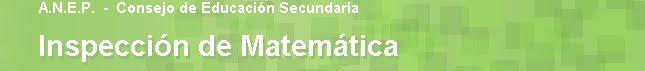 Inspección Matemática