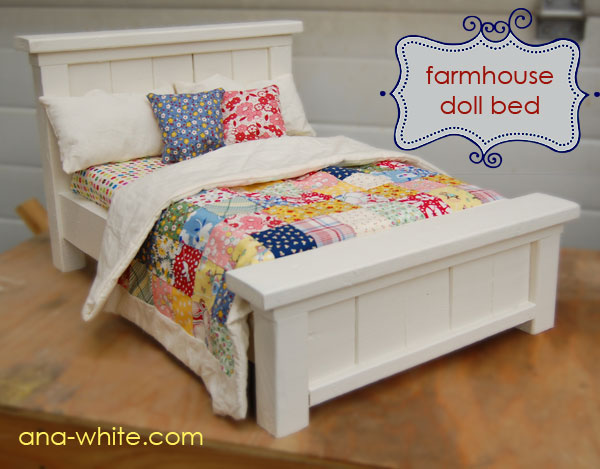 Maida today farmhouse doll bed you can build for Farmhouse bed plans