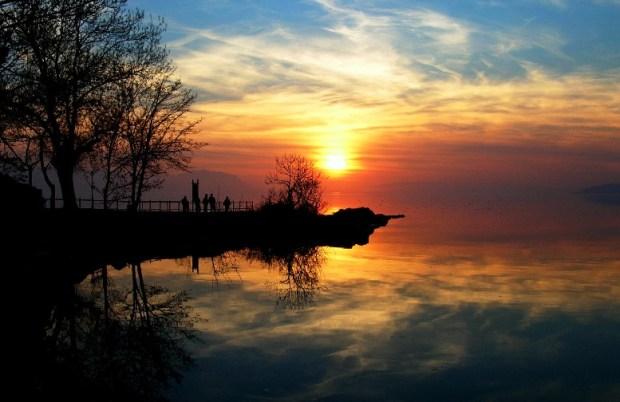 060- İznik Gölü'nde akşam