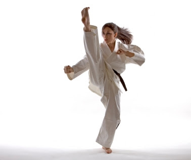 Woman+karate+kick