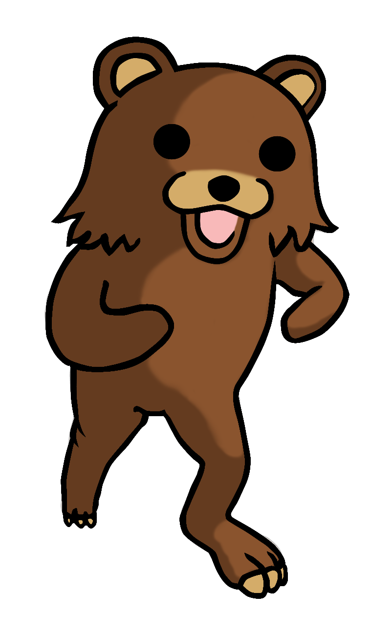 The typical appearance of Pedobear.