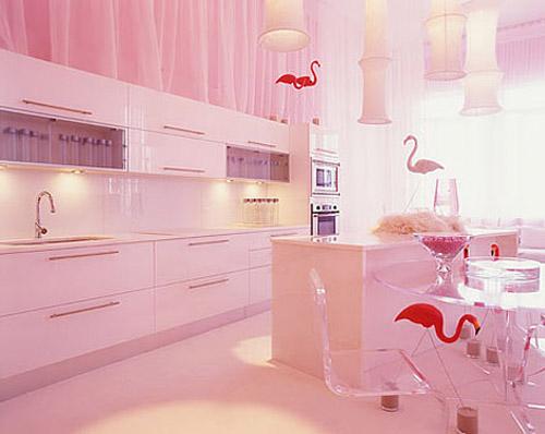 Colores para Decorar Como combinar el color rosa en cocinas