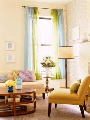 Colores para decorar cortinas para salones en funci n del for Cortinas verdes para salon