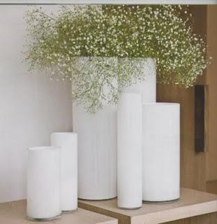 Colores para decorar jarrones blancos como combinarlos for Jarrones decorativos grandes