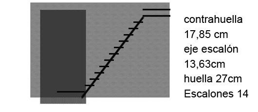 Proyecto escalera exterior alternada for Escalera 5 pasos afuera