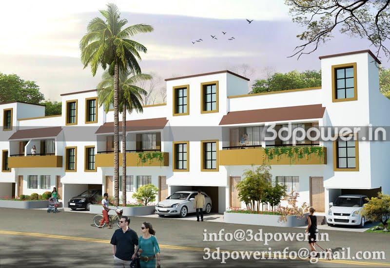Row House Bunglows Elevation | Joy Studio Design Gallery - Best Design