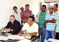 Abogados representantes del caso de despedidos de la empresa Standard Fruit de Honduras