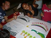 jovenes artistas de la comunidad de Chorrera