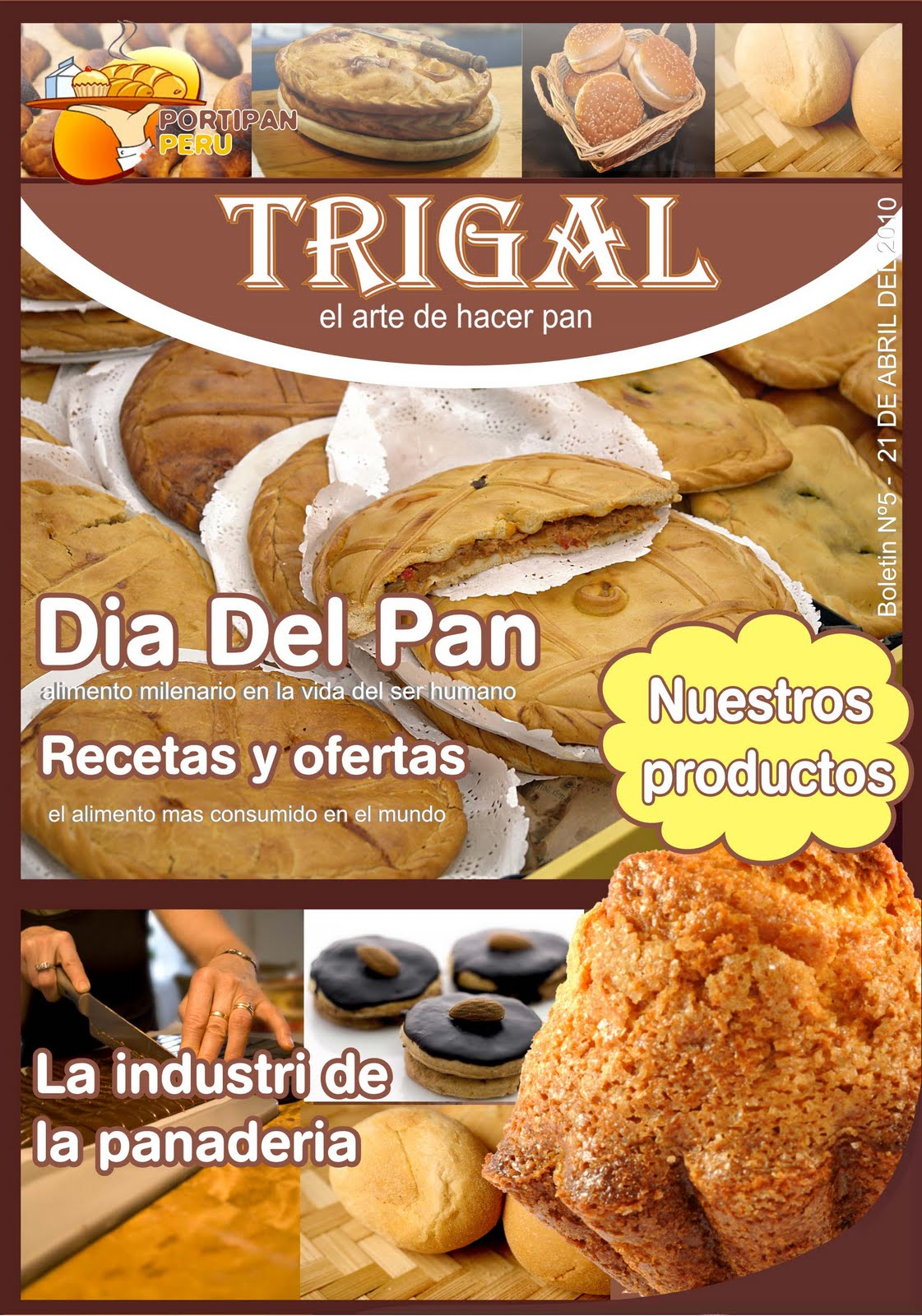 portada de boletin(empresa panaderia)