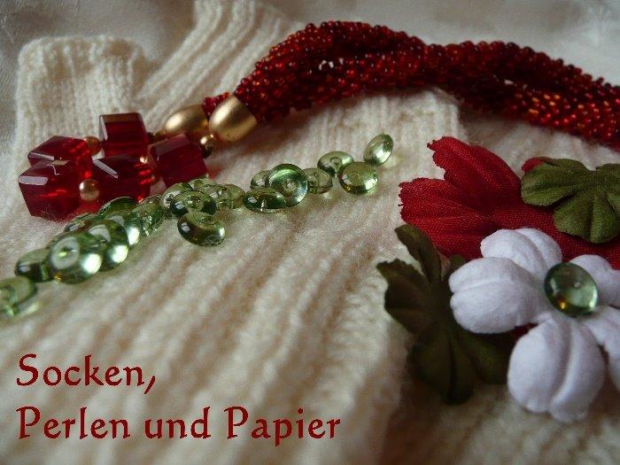 Socken, Perlen und Papier