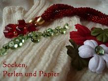 Socken, Perlen und Papier, das Blog