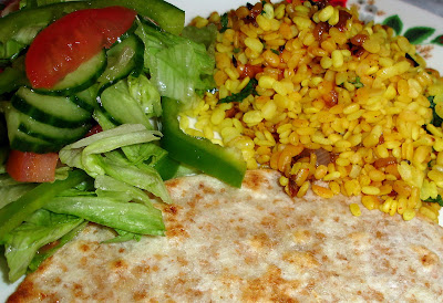 Express Sukhi Dal with Phulka and Salad