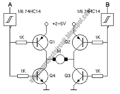 Dc motor control additionally 2sc3320 High Voltage High Speed in addition Dc Motor Interfacing Dc Motors In furthermore Simple 4 Transistor H Bridge also Motor And General Control Schematics. on h bridge interfacing