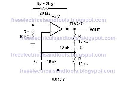 Diagram ingram using tlv2471 for wein bridge oscillator