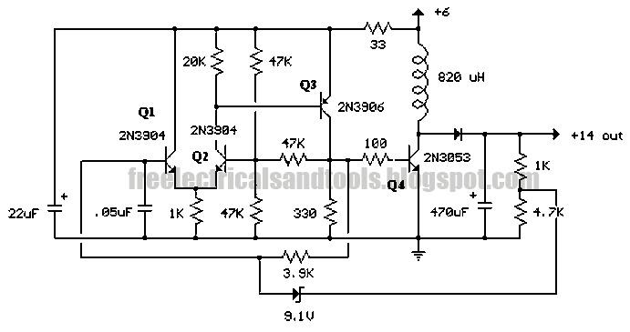 Free Schematic    Diagram     Transformer Voltage Booster