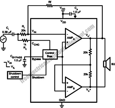april 2013 wiring schema blogsthe lm4951a is an audio power amplifier designed for applications with supply voltages ranging from 2 7v up to 9v the lm4951a is capable of delivering 1 8w