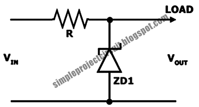 simple project circuit  simple shunt voltage stabilizer