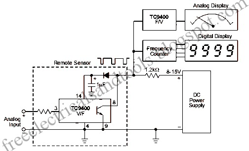 diagram circuit  analog signal transmission circuit through dc supply line