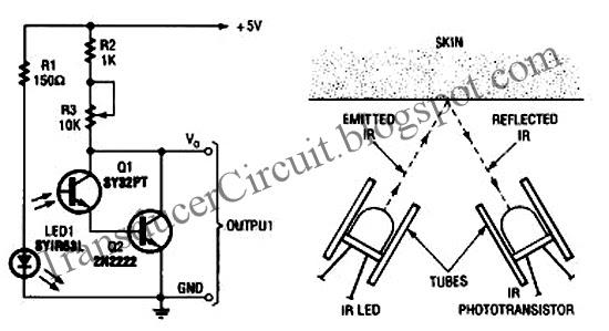 hearbeat sensor  tranducer  circuit