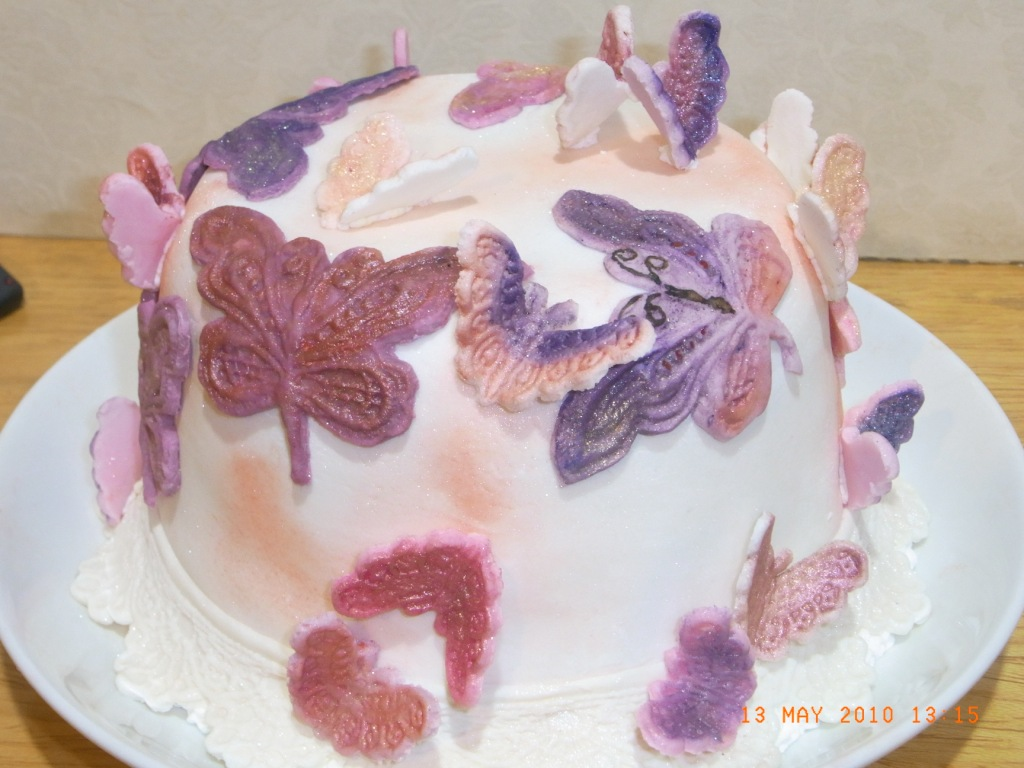 COOK FROM THE BOOK BUTTERFLY CAKE WEDDING HANTARAN