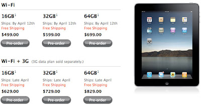 Apple Announced iPad Wi-Fi + 3G Models Available in US on April 30