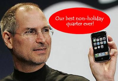 Apple announced $3.07 Billion Best Non-Holiday Quarter profit posting 51.15M iPhones sale