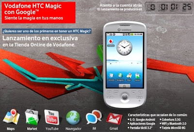 Android-powered HTC Magic now available on Spain –magic?