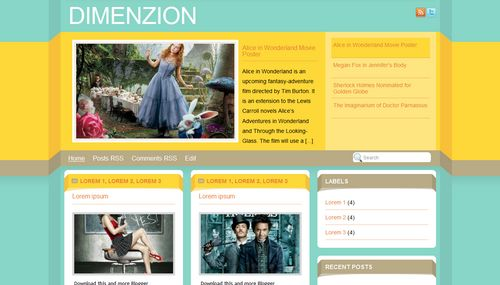 Free Blogger Templates Download: Dimenzion