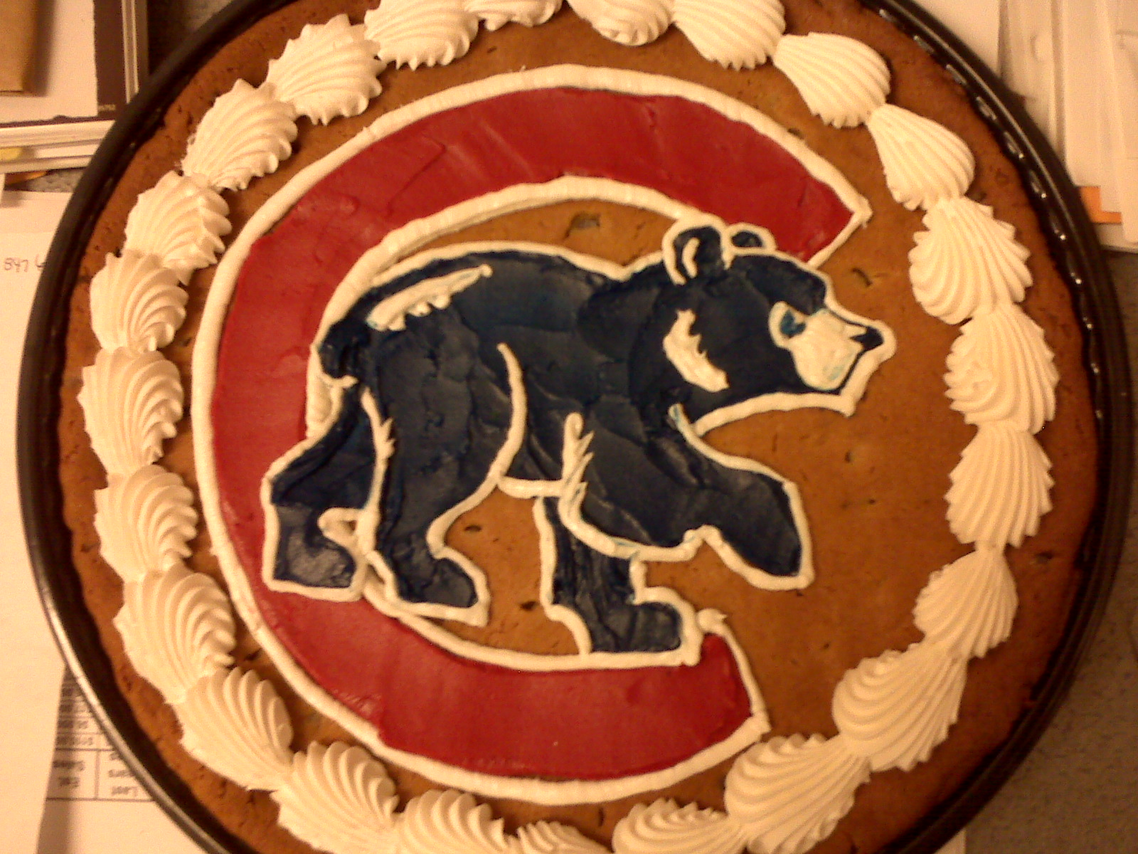 Kathy Kerners Cake Collection Chicago Cubs Cookie Cake