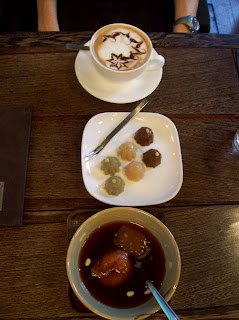 Our snack at the teahouse