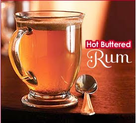 A mug of hot buttered rum.