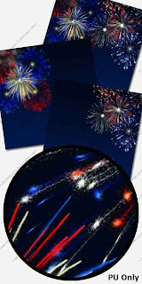 free 4 july papers preview Free Fireworks  4th of July Scrapbooking Papers