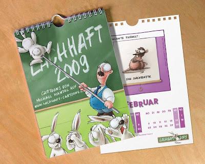 LACHHAFT Cartoons Kalender 2009 von Michael Mantel