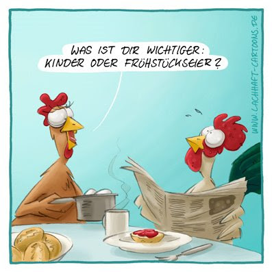 Frühstückseier hart wachsweich Eier kochen Huhn Hahn Kinder Nachwuchs Entscheidung Frühstück Cartoon Cartoons Witze witzig witzige lustige Bildwitze Bilderwitze Comic Zeichnungen lustig Karikatur Karikaturen Illustrationen Michael Mantel lachhaft Spaß Humor