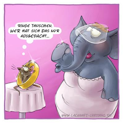 Hochzeit Elefant Maus Ringe tauschen Elefantenhochzeit albern Cartoon Cartoons Witze witzig witzige lustige Bildwitze Bilderwitze Comic Zeichnungen lustig Karikatur Karikaturen Illustrationen Michael Mantel lachhaft Spaß Humor