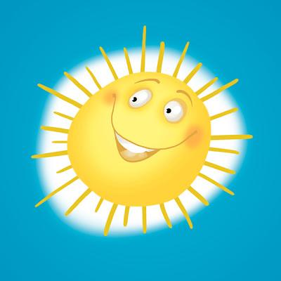 Michael Mantel für die Bilderwumme Illustration Sonne sun Himmel blau