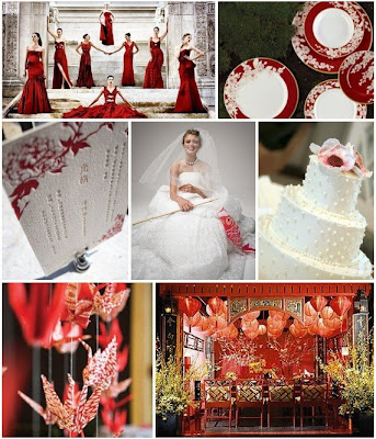 gold and white wedding decorations. Red Wedding Decorations