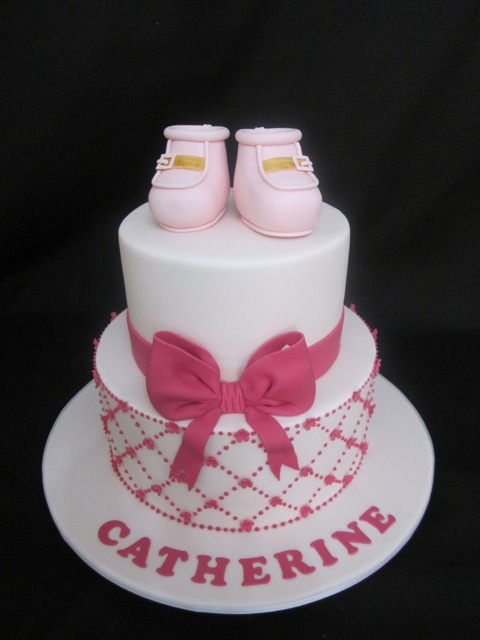 Baby Shower cake for Catherine by Handi's Cakes =)