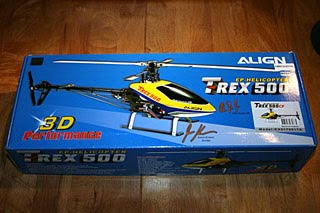 trex 500 rc helicopter image