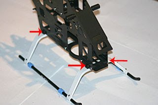 trex 500 rc helicopter undercarriage image